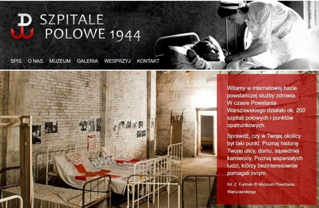 Powstanie Warszawskie, szpitale 1944, szpital, muzeum