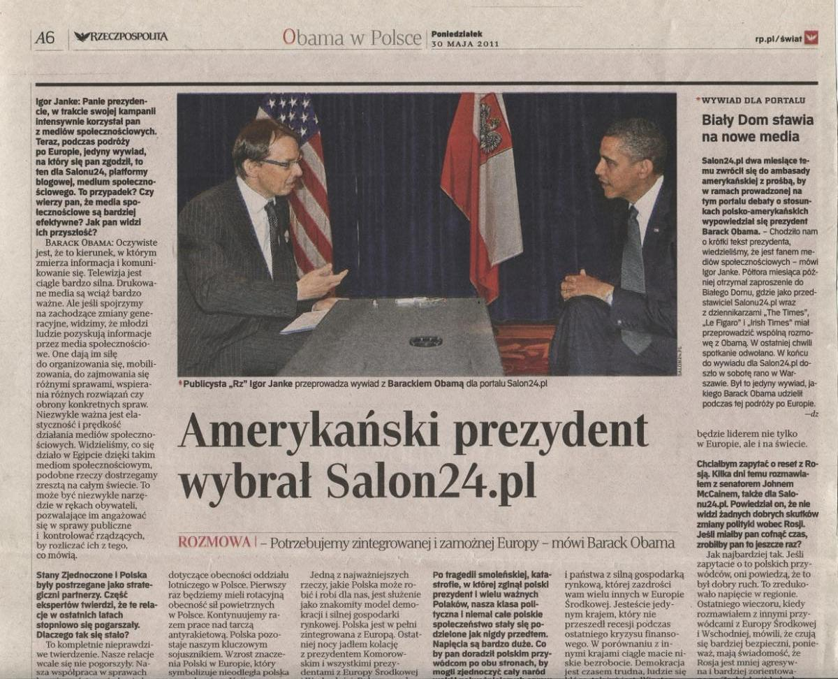 Obama w Salon24.pl